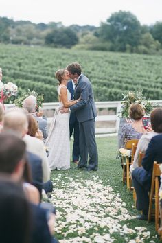 It really doesn't get more perfect than this! #ido #weddings #firstkiss #love #married #wineryweddings #santabarbara #winecountry #santabarbaraweddings Photo by: http://www.alexandra-wallace.com/ www.cateringconnect.com