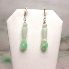 Jade earrings, dangling jade earrings, red jade earrings, silver jade earrings, jade earrings
