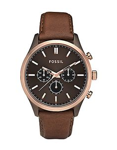 Walter Leather Watch - Brown #Fossil