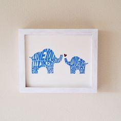 "Mama and Baby Elephant Custom Word Art - 8x10"" - Perfect Newborn Gift! by kateetc on Etsy https://www.etsy.com/listing/218087660/mama-and-baby-elephant-custom-word-art"