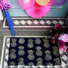 Bombay Duck Doormat Pineapples   Prezola - The Wedding Gift List