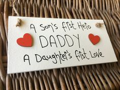 MadeAt94 A Sons First Hero A Daughters First Love Plaque Sign: Amazon.co.uk: Kitchen & Home Birthday Gift For Him, Unique Birthday Gifts, Boy Birthday, Happy Birthday, Gifts For Mum, Fathers Day Gifts, Daughters, Sons, Birthday Frames
