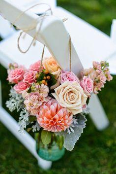Outdoor ceremony floral decor ~ Elegant Images-Colorado | bellethemagazine.com