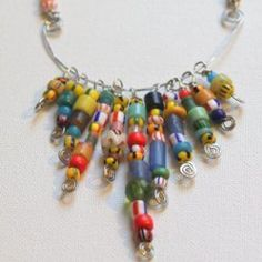 African Christmas Bead Necklace