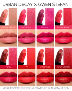 Are you ready for Urban Decay x Gwen Stefani? Here are swatches of the new lipsticks and pencils!