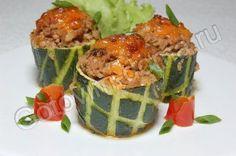 Рецепт - кабачки фаршированные Бочонки