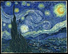 Starry Night-Vincent Van Gogh. [favorite painting of all times!]