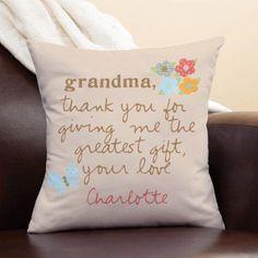 Personalized Sandra Magsamen Pillow For Grandma, Multicolor