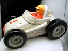 ❤Coca-Cola 2002 Sakura Race Car Cookie Jar