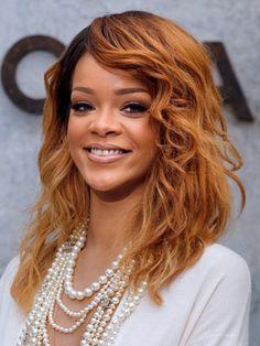 Rihanna's new reddish brown