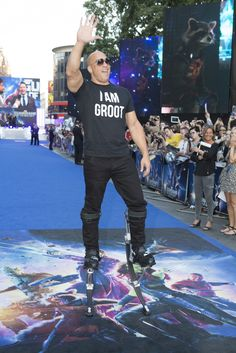 """Vin Diesel at the London Premiere of Marvel's """"Guardians of the Galaxy"""""""