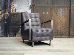 Owen fauteuil leverbaar in geschuurd leer Recliner, Armchair, Lounge, Vintage, Furniture, Design, Home Decor, Armchairs, Chair