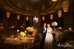 Bride and groom awai