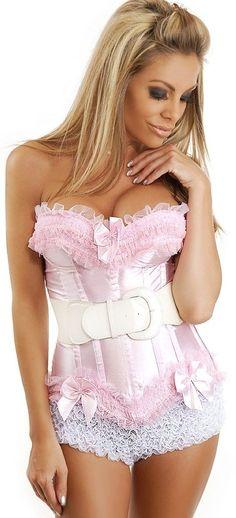 5e258960f82 Baby Pink Corset Set  DC755  -  64.00   Clubwear