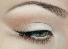 white and beige with black liner.