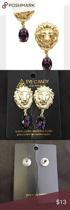 🎉LAST CHANCE lion earrings Eye candy los angles lion earrings Eye candy los angles brand new final sale offers accepted NO TRADES NO PAYPAL NO LOWBALLING Jewelry Earrings