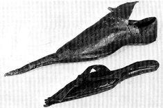Poulaine leather shoe, c. 15th century, Deutsches Leder Museum, Offenbach-am-Main