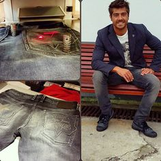 Customised jeans by Lourenço Ortigao in our #PepeJeansCustomStudio