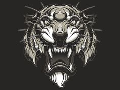 Tribal Gear merch design designed by Jared Mirabile. Tatto Old, Tatoo Art, Lion Tattoo, Lion Design, Tiger Design, Tiger Art, Lion Art, Animal Logo, Designs To Draw
