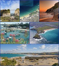 Newquay (Cornish: Tewynblustr) is a town, civil parish, seaside resort and fishing port in Cornwall. It is situated on the North Atlantic coast of Cornwall approximately 20 miles (32 km) west of Bodmin and 12 miles (19 km) north of Truro.  The town is bounded to the west by the River Gannel and its associated salt marsh, and to the east by the Porth Valley. Newquay has been expanding inland (south) since it was founded.  In 2001, the census recorded a permanent population of 19,562.