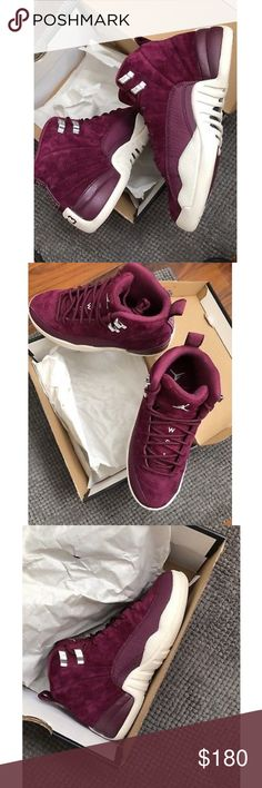 Air Jordan Bordeaux 12 ALL LEGIT WITH FINISH LINE RECEIPTS❗️for info on purchasing you can text me: (323) 207-8918 Air Jordan Shoes Sneakers