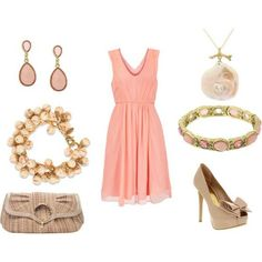 A pretty coral dress teamed with the right accessories and tall heels can never go wrong for your Sunday brunch!