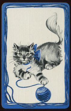 Another Vintage Yarn Card. Cute!