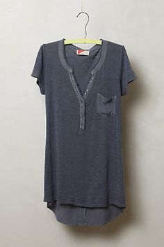 High-Low Henley Tee - Anthropologie.com