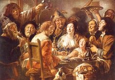 The King Drinks, by the 17th century artist Jacob Jordaens, illustrates a feasting scene from William Shakespeare's Twelfth Night. The Shakespearean larder teems with intriguing-sounding food.