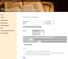 Loeb Music Library. Digital Scores and Libretti.