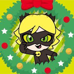 Merry Christmas, Hawk Moth, Marinette And Adrien, Fandom, Cat Noir, Anime Kawaii, Lucky Charm, Queen Bees, Chibi