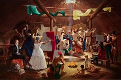 """KDS Photo - Art Gallery of Ontario, acrylic painting by Kent Monkman, """"The Academy"""", Vancouver Art Gallery, Art Gallery Of Ontario, Museum Of Fine Arts, Art Museum, Cast The First Stone, Photo Art Gallery, Two Spirit, The Ancient One, Artist"""
