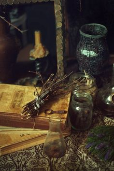 Herbs: #Herbs and old books.