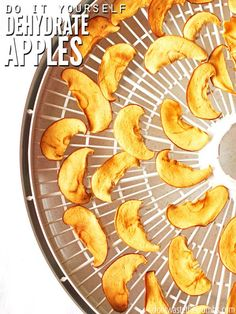 How to Dehydrate Apples and Make Apple Chips: Easy DIY The scoop on how to dehydrate apples, plus a recipe for dehydrated caramel apple chips - an excellent alternative to holiday candy! Dehydrated Apples, Dehydrated Food, Dehydrated Vegetables, Diy Snacks, Healthy Snacks, Healthy Habits, Cinnamon Apple Chips, Dried Apple Chips, Real Food Recipes