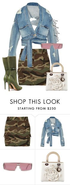 """Untitled #6668"" by stylistbyair ❤ liked on Polyvore featuring Yves Saint Laurent, Jonathan Simkhai and Christian Dior"