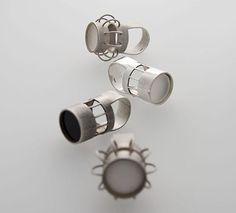 Manuela Gandini (Manuganda) Ring: CAGE, 2012 Silver, acrylic 3D design, lost wax casting, hand polish