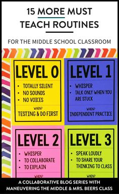 15 more middle school routines and procedures to keep your students on the right track and your classroom running smoothly.   maneuveringthemiddle.com