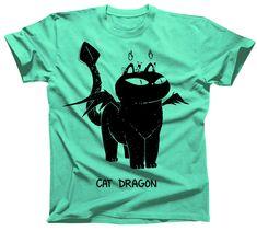 Cat Dragon Tshirt- Sebastien Millon https://www.etsy.com/listing/591355799/cat-dragon-tshirt-available-in-mens-and