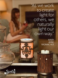 """As we work to create light for others, we naturally light our own way."" Beckybilby.Scentsy.Us  #scentsyspirit #quote"