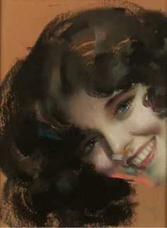 A Blue Eyed Beauty by Rolf Armstrong, c. 1928 - 1931http://grapefruitmoongallery.com/9341