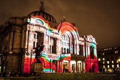 Fachada del Palacio de Bellas Artes / El origen del mundo