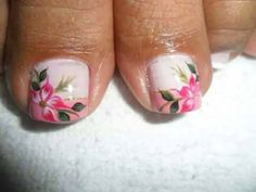 Uñas Toenail Art Designs, Pedicure Nail Designs, Pedicure Nail Art, Toe Nail Art, Easy Nail Art, French Fade Nails, Faded Nails, Gorgeous Nails, Pretty Nails