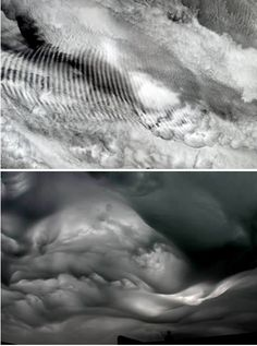 Gravity Waves - caused by air displaced in the vertical plain as a result of updrafts coming off mountains or during thunderstorms