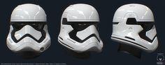 New Stormtrooper helm from the episode 7 trailer (Star Wars fan art). , Darren Pattenden on ArtStation at https://www.artstation.com/artwork/new-stormtrooper-helm-from-the-episode-7-trailer-star-wars-fan-art