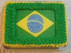 Bolo Bandeira do Brasil