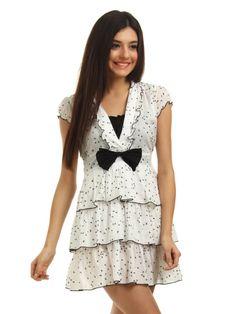 vestidos blanco con lazo negro - Buscar con Google