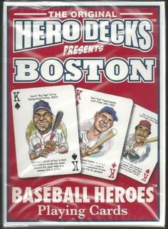 Boston Red Sox MLB Baseball Hero Decks Playing Cards Poker Sized 52 Card Deck . $9.99. in near mint/mint condition, authenticated by Seller