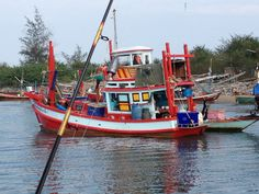 Local Fishing Boat at the Bay of Siam, Thailand