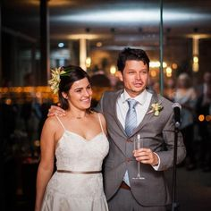 October's Real Wedding Round Up - Paris and Robert at their reception #hitchedrealwedding