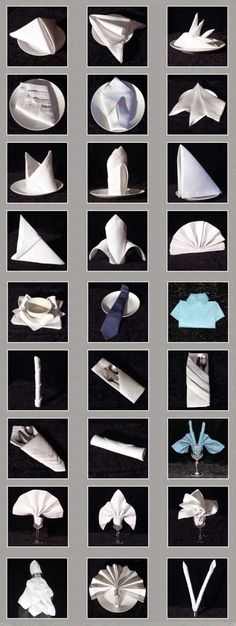 How to fold Napkins! Bird Quilt, Napkin Folding, Dinner Napkins, Deco Table, Diy Wall Decor, Christmas Art, Holidays And Events, Event Decor, Tablescapes